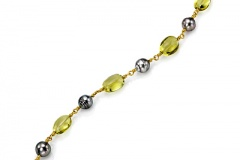 South Sea Pearl and Lemon Quartz Bracelet
