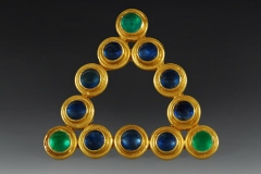 Sapphire and Emerald Brooch