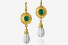 Emerald and Chachalong Earring