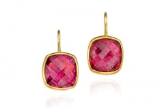 Tourmaline Checkerboard Earrings