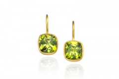 Peridot Cushion Earrings