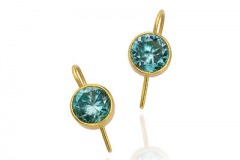 Blue Zircon Earrings