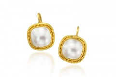 Square Mabe Pearl Earrings