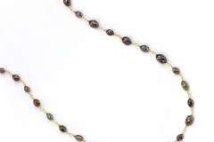Chocolate Diamond Beaded Necklace