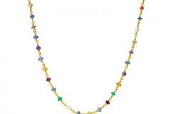 Multi-colored Gemstone Sautoir Necklace