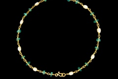 Apatite and Pearl Necklace