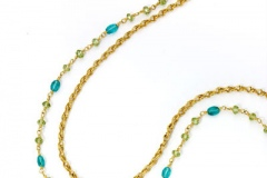 Apatite and Peridot Sautoir Necklace