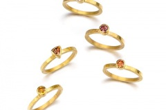 Padparadscha Sapphire Stack Rings
